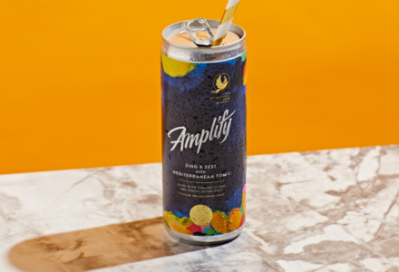 Introducing our non-alcoholic spirit Amplify pre-mixed cans